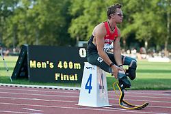 Behind the scenes, BEHRE David, GER, 400m, T44, 2013 IPC Athletics World Championships, Lyon, France