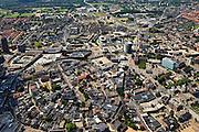 Nederland, Overijssel, Enschede, 30-06-2011; overzicht binnenstad..Links beneden het gebied rond de Oude Markt en rechtsboven is in de verte de fabrieksschoorsteen van voormalige katoenspinnerij Jannink. Overview city of Enschede (East-Netherlands), Old center bottom right..luchtfoto (toeslag), aerial photo (additional fee required).copyright foto/photo Siebe Swart