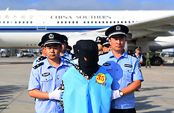August 5, 2017 - Changchun, Jilin, Shina - Suspect #35 in telecom and online fraud cases is brought back to China from Fiji to Changchun Longjia International Airport. A total of 77 suspects have been brought back to China from Fiji, The suspects are accused in more than 50 cases involving more than 6 million yuan. (Credit Image: © Lin Hong/Xinhua via ZUMA Wire)