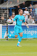 AFC Wimbledon Goalkeeper Ryan Clarke (26) during the Pre-Season Friendly match between Dover Athletic and AFC Wimbledon at Crabble Athletic Ground, Dover, United Kingdom on 12 July 2016. Photo by Stuart Butcher.