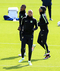 Fernando of Manchester City trains with his team mates - Mandatory byline: Matt McNulty/JMP - 25/04/2016 - FOOTBALL - City Football Academy - Manchester, England - Manchester City v Real Madrid - UEFA Champions League Training Session