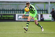 Forest Green Rovers Jack Fitzwater(16) clears the ball during the EFL Sky Bet League 2 match between Forest Green Rovers and Luton Town at the New Lawn, Forest Green, United Kingdom on 16 December 2017. Photo by Shane Healey.