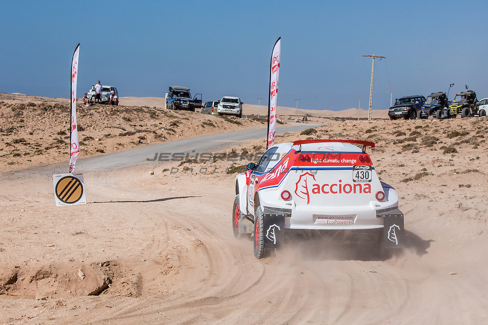Acciona 100x100 ecopowered,electric car, Marocco rally 2015, day 4