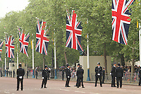 Royal Wedding - Metropolitan Police security, Horseguards Road & The Mall,London, UK, 29 April 2011:  Contact: Rich@Piqtured.com +44(0)7941 079620 (Picture by Richard Goldschmidt)