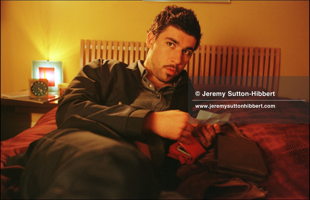 """Late Night Shopping"" film set, Scotland 2000..©Jeremy Sutton-Hibbert/Late Night Shopping 2000..Actor James Lance."