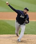 CHICAGO - JUNE 07:  Felix Hernandez #34 of the Seattle Mariners pitches against the Chicago White Sox on June 7, 2011 at U.S. Cellular Field in Chicago, Illinois.  The White Sox defeated the Mariners 5-1.  (Photo by Ron Vesely)  Subject:  Felix Hernandez