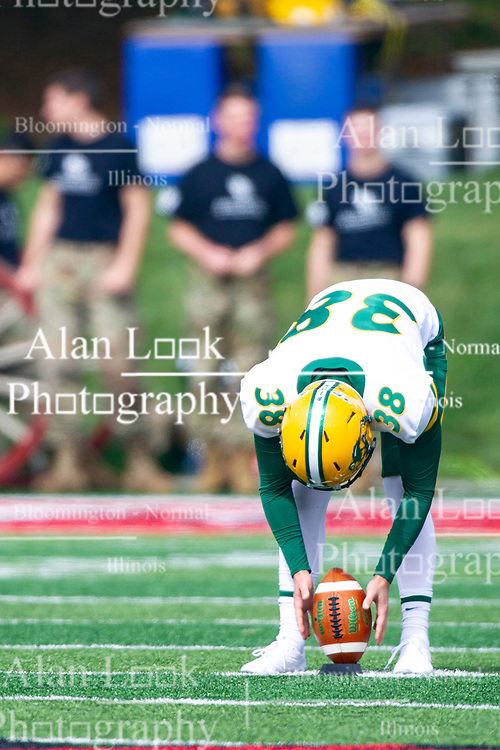 NORMAL, IL - October 05:  Garret Wegner during a college football game between the ISU (Illinois State University) Redbirds and the North Dakota State Bison on October 05 2019 at Hancock Stadium in Normal, IL. (Photo by Alan Look)