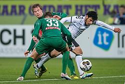 26-10-2016 NED: KNVB beker FC Utrecht, - Fc Groningen, Utrecht<br /> FC Utrecht heeft zich geplaatst voor de achtste finales van de KNVB-beker. De verliezend finalist van vorig seizoen rekende in stadion Galgenwaard af met FC Groningen, bekerwinnaar in 2015 / Yassin Ayoub #6, Hans Hateboer #33