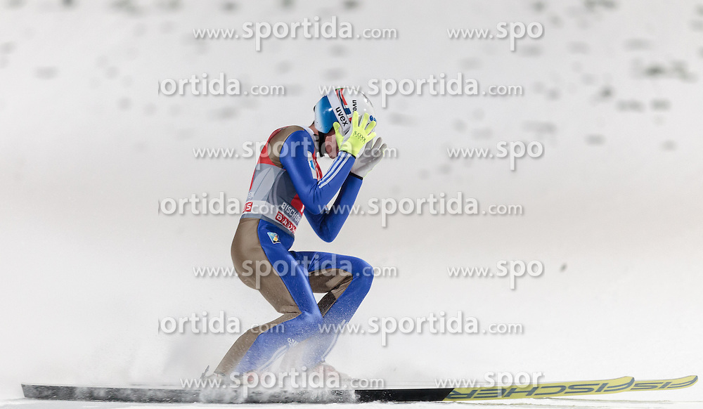 06.01.2016, Paul Ausserleitner Schanze, Bischofshofen, AUT, FIS Weltcup Ski Sprung, Vierschanzentournee, Bischofshofen, Finale, im Bild Johann Andre Forfang (NOR) // Johann Andre Forfang of Norway reacts after his 1st round jump of the Four Hills Tournament of FIS Ski Jumping World Cup at the Paul Ausserleitner Schanze in Bischofshofen, Austria on 2016/01/06. EXPA Pictures © 2016, PhotoCredit: EXPA/ JFK