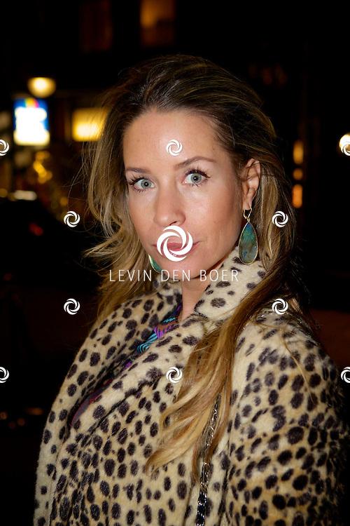 AMSTERDAM - Bij brasserie van Dam hield het glamour magazine Talkies hun 20 jarig bestaan. Dit werd gevierd met de nieuwe cover van het magazine. Met hier op de foto  Renée Vervoorn. FOTO LEVIN DEN BOER - PERSFOTO.NU