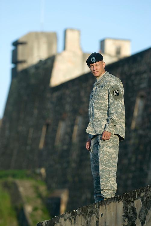 Iraq veteran Calos Poventud for Veterans Administration educational material. (2008)