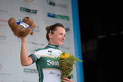 Mia Radotic (BTC City Ljubljana) is awarded most combatitive rider at Thüringen Rundfarht 2016 - Stage 2 a 103km road race starting and finishing in Erfurt, Germany on 16th July 2016.