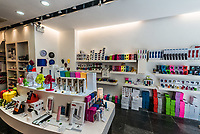 Central, Hong Kong - June 4, 2014: colorful electronics store at Soho