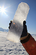 Ice core; Kongsfjord, Svalbard, Norway.