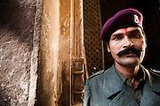 Portrait of a Guard at Jodphur Fort, Rajhastan, India