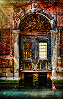 """""""The abandoned entrance of the past beyond Calle Dose from Ponte Venezia""""…<br /> <br /> The last day of our Pilgrimage was spent in one of the most iconic locations on earth, Venice! Busing to the docks at the Venetian Lagoon from Padua to catch our private boat to the Basilica di San Marco, an exemplary spiritual treasure for a special Mass. Touring the crowded Doge's Palace proceeded, then set free to breathe in as much of the Venetian Island as possible until our final farewell dinner and return flight home in the morning. As standard fare, my fellow Pilgrim Patrick and I took off out of the starting gate with the notion to capture the entirety of Venice in a half of a day on foot. I am not sure if I am the first to describe Venice as """"organic;"""" however, there has never been a more perfect description to define Venice's ever changing persona. Venice is perhaps the most uniquely recognizable seaside city in the world, and its impression changes by the minute with the ever changing light and active tide coming in and out. Morning fog gave way to afternoon sunshine. The creaky, wet, gloomy, old, decaying Venice sinking and soaking in the morning mist… opened like flower petals in the springtime at first glimpse of sunlight. The organic lagoon began to blossom as if the decay became antique, the gloom became passion, the creaky became sweet sounds, and the desperate island illuminated with life, color, and hope. It was a Bellissimo Spring day and the atmosphere that is exclusively Venice was intoxicating. We artfully meandered the narrow walkways and canals with a keen rhythm and capture of all that was superior. Not a thought of distance occurred in our surreptitious mission of Venice. We finally made it by dusk to our waterway restaurant Ristorante Pizzería Da Alvise, which was authentic and excellent."""
