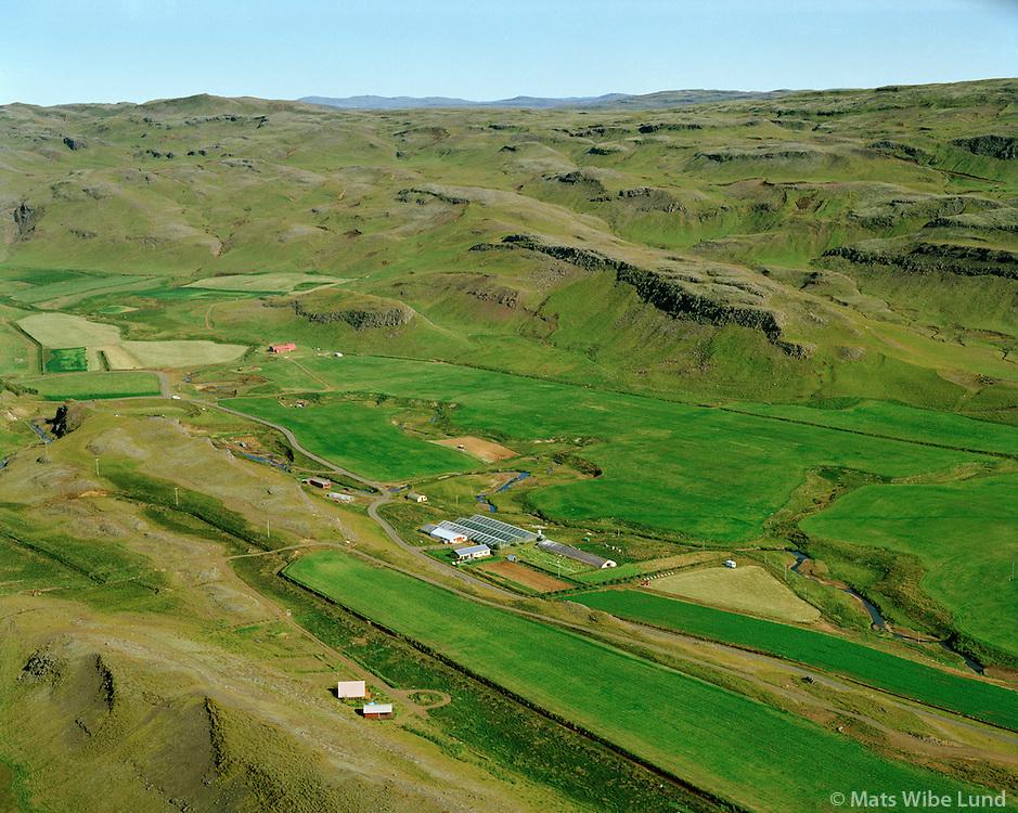 Reykjaból og Laugar séð til norðurs, Hrunamannahreppur / Reykjabol and Laugar viewing north, Hrunamannahreppur.
