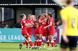 (Caption Correction) Bristol City Women celebrate Claire Emslie second goal against Oxford United Women - Mandatory by-line: Robbie Stephenson/JMP - 25/06/2016 - FOOTBALL - Stoke Gifford Stadium - Bristol, England - Bristol City Women v Oxford United Women - FA Women's Super League 2