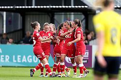 (Caption Correction) Bristol City Women celebrate Claire Emslie second goal against Oxford United Women - Mandatory by-line: Robbie Stephenson/JMP - 25/06/2016 - FOOTBALL - Stoke Gifford Stadium - Bristol, England - Bristol City Women v Oxford United Women - FA Women's Super League 2