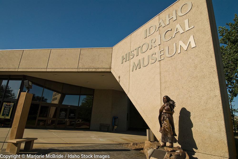 Sacajawea statue at the Idaho Historical Museum in Boise, Idaho.