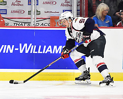 Jeremy Bracco of the Windsor Spitfires in Game 3 of the 2017 MasterCard Memorial Cup against the Seattle Thunderbirds on Sunday May 21, 2017 at the WFCU Centre in Windsor, ON. Photo by Aaron Bell/CHL Images