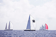 P2 sailing in the St. Barth's Bucket Regatta, day three.