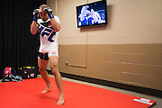 LAS VEGAS, NV - JULY 7:  Eddie Alvarez warms up in the locker room before UFC Fight Night at MGM Grand Garden Arena on July 7, 2016 in Las Vegas, Nevada. (Photo by Cooper Neill/Zuffa LLC/Zuffa LLC via Getty Images) *** Local Caption *** Eddie Alvarez