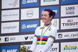 World Champion, Elena Pirrone at UCI Road World Championships Junior Women's Individual Time Trial 2017 a 16.1 km time trial in Bergen, Norway on September 18, 2017. (Photo by Sean Robinson/Velofocus)