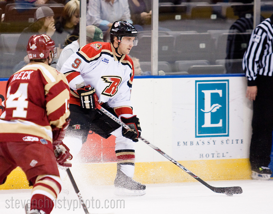 March 17, 2009: The Rapid City Rush of the CHL play against the Oklahoma City (OKC) Blazers at the Ford Center in Oklahoma City, OK.