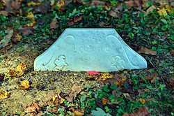 tombstone for Elise LeQuire in the cemetery at the Primitive Baptist Church in Cades Cove, Blount County Tennessee, Great Smoky Mountains National Park