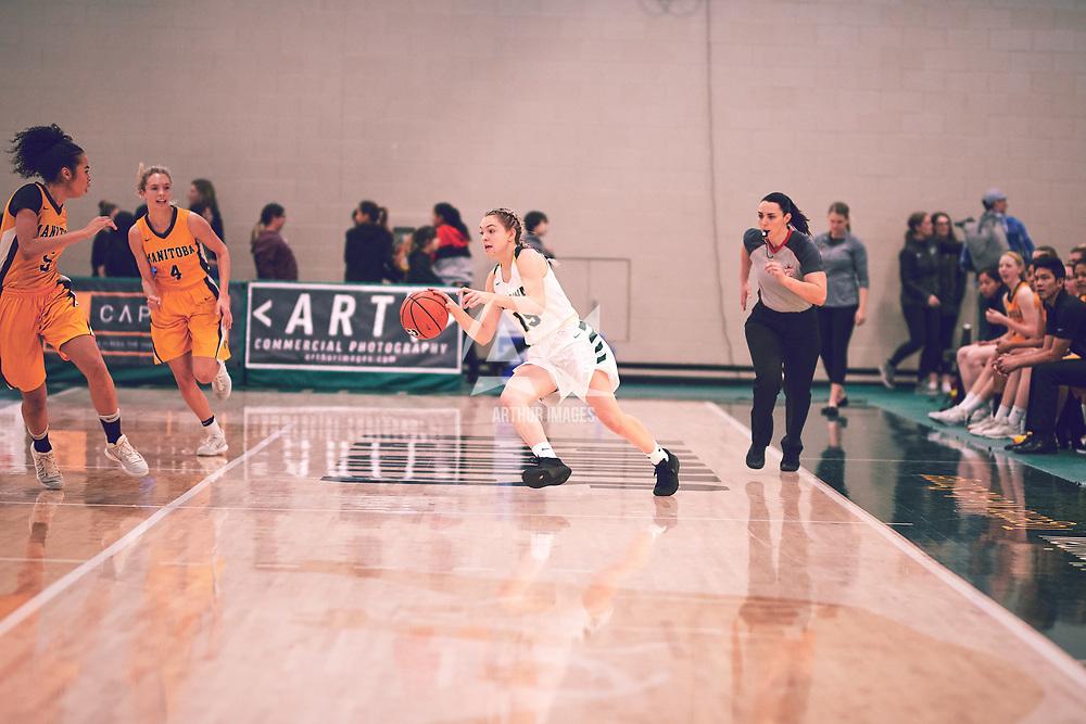 Regina Cougars Women's Basketball on November 16th, 2018 vs the University of Manitoba Bisons.