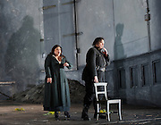 Otello<br /> music by Verdi<br /> Arrigo Boito after William Shakespeare<br /> English National Opera at the Coliseum, London, Great Britain<br /> rehearsal conducted by Edward Gardner <br /> co-production with The Royal Swedish Opera and Teatro Real Madrid.<br /> 9th September 2014<br /> <br /> Stuart Skelton as Otello<br /> Leah Crocetto as Desdemona<br /> Jonathan Summers as Iago<br /> Pamela Helen Stephen as Emilia<br /> Allan Clayton as Cassio<br /> Barnaby Rea as Ambassador <br /> Peter Van Hulle as Roderigo <br /> Photograph by Elliott Franks<br /> Image licensed to Elliott Franks Photography Services