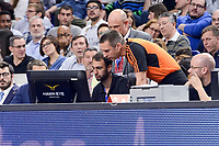Referee using Hawk-Eye during Turkish Airlines Euroleague match between Real Madrid and Anadolu Efes at Wizink Center in Madrid, April 07, 2017. Spain.<br /> (ALTERPHOTOS/BorjaB.Hojas)
