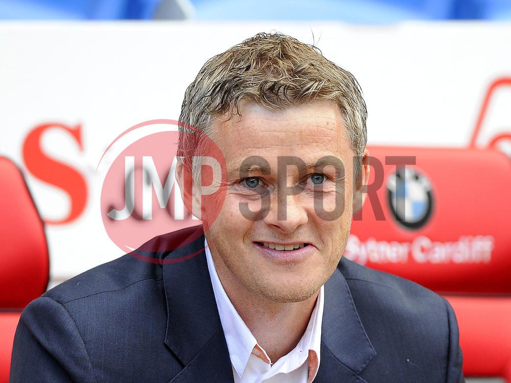 Cardiff City Manager, Ole Gunnar Solskjær - Photo mandatory by-line: Joe Meredith/JMP - Mobile: 07966 386802 02/08/2014 - SPORT - FOOTBALL - Cardiff - Cardiff City Stadium - Cardiff City v VfL Wolfsburg - Pre-Season Friendly