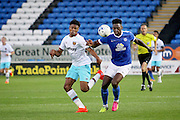 Peterborough no 4 Ricardo Almeida Santos clears an attack during the Pre-Season Friendly match between Peterborough United and West Ham United at London Road, Peterborough, England on 19 July 2016. Photo by Nigel Cole.
