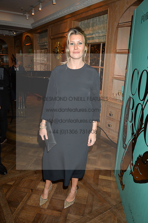SARA PARKER BOWLES at a party hosted by Ewan Venters CEO of Fortnum & Mason to celebrate the launch of The Cook Book by Tom Parker Bowles held at Fortnum & Mason, 181 Piccadilly, London on 18th October 2016.