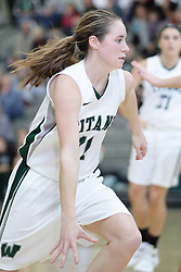 12 December 2015:  Molly McGraw during an NCAA women's basketball game between the Wisconsin Stevens Point Pointers and the Illinois Wesleyan Titans in Shirk Center, Bloomington IL
