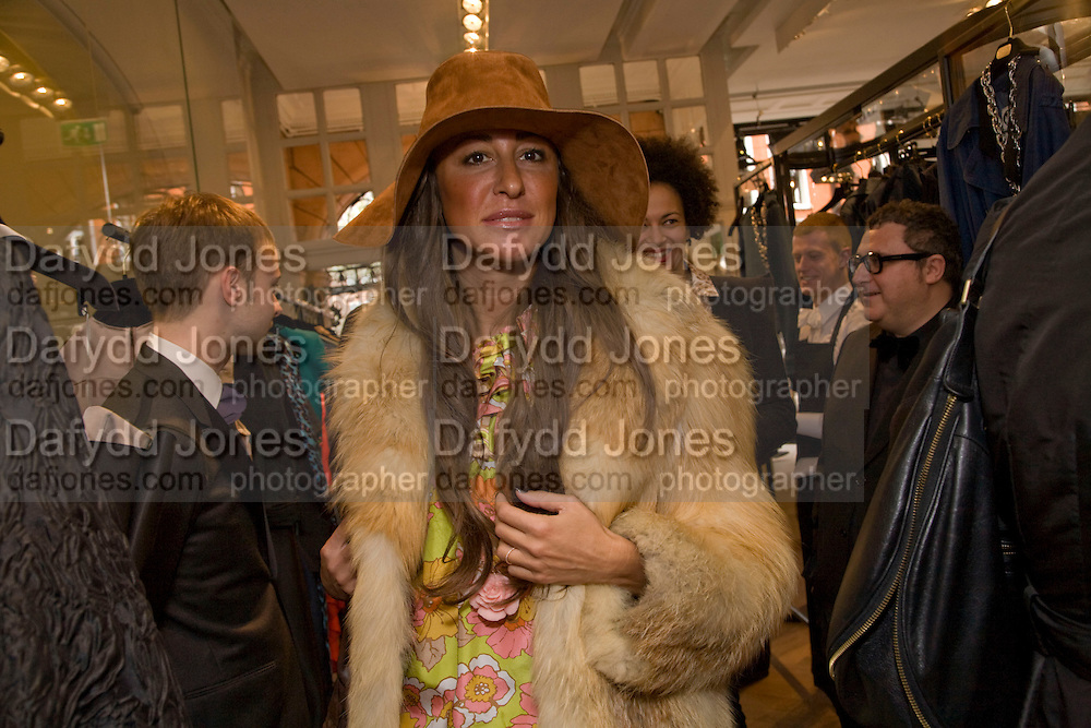 CHIARA BERNARDI, The Launch of the Lanvin store on Mount St. Presentation and cocktails.  London. 26 March 2009