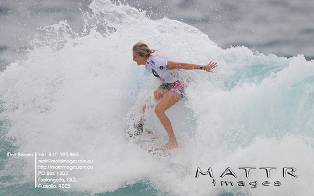 Gold Coast, Australia - March 5: Steph Gilmore dominated during the quarter finals of the Roxy Pro Gold Coast 2010 at Snapper Rocks on the Gold Coast, March 5, 2010 Photo by Matt Roberts/MATTRimages.com.au | Image ID: MTR_0807.jpg