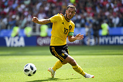 June 23, 2018 - Moscow, Russia - Eden Hazard of Belgium in action during the 2018 FIFA World Cup Group G match between Belgium and Tunisia at Spartak Stadium in Moscow, Russia on June 23, 2018  (Credit Image: © Andrew Surma/NurPhoto via ZUMA Press)