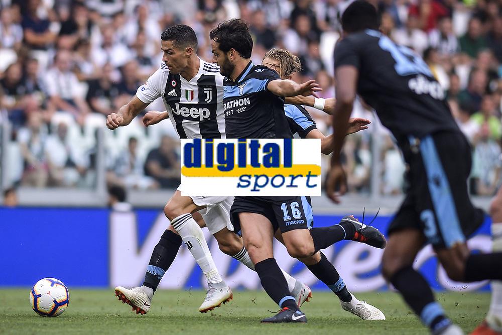 Cristiano Ronaldo Juventus Marco Parolo Lazio <br /> Torino 25-08-2018 Allianz Stadium Football Calcio Serie A 2018/2019 Juventus - Lazio Foto OnePlusNine / Insidefoto