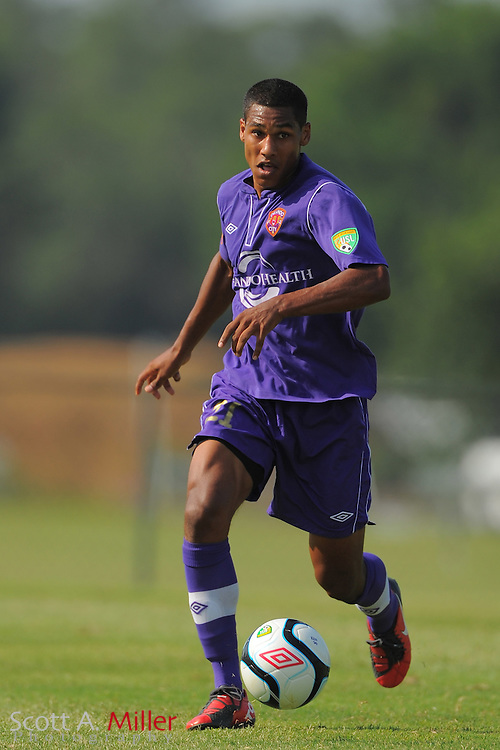 Orlando City U23s defender Sean Reynolds (21) in action during Orlando's game against the Ocala Stampede at the Seminole Soccer Complex Saturday on May 26, 2012 in Sanford, Fla. ...©2012 Scott A. Miller..