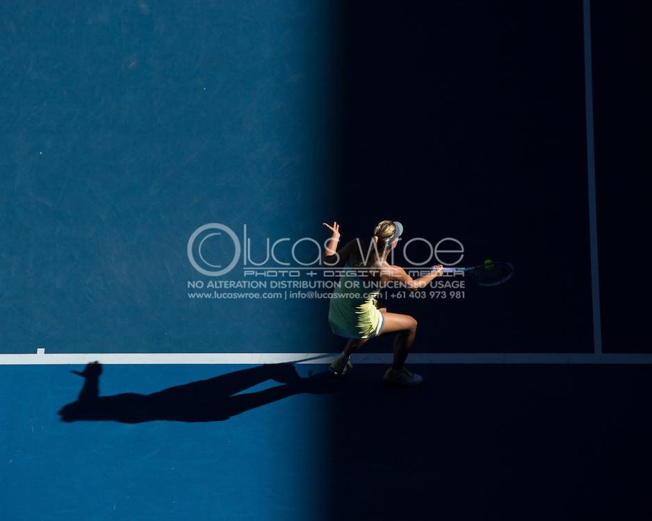 Maria Sharapova (RUS). Day 8. Round 4. Melbourne Olympic Park, Melbourne, Victoria, Australia. 22/01/2013. Photo By Lucas Wroe