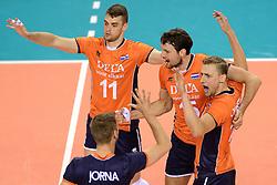 08-06-2014 NED: WLV Nederland - Portugal, Almere<br /> Dick Kooy, Thomas Koelewijn, Robin Overbeeke