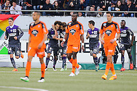Joie Martin BRAITHWAITE - Deception Lorient - 18.04.2015 - Lorient / Toulouse - 33eme journee de Ligue 1<br />