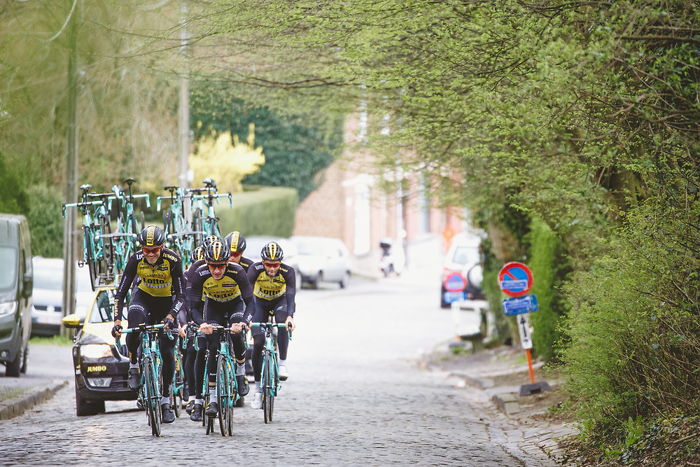 Lars Boom and the Lotto NL - Jumbo team train on the parcours ahead of the Ronde van Vlaanderen. Photo: Iri Greco / BrakeThrough Media | www.brakethroughmedia.com