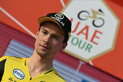 February 24, 2019 - Abu Dhabi, United Arab Emirates - The Red Jersey, Primoz Roglic from Jumbo-Visma after the Team Time Trial, the opening ADNOC stage of the inaugural UAE Tour 2019..On Sunday, February 24, 2019, Abu Dhabi, United Arab Emirates. (Credit Image: © Artur Widak/NurPhoto via ZUMA Press)