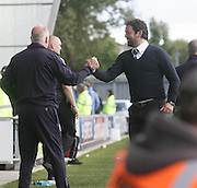 Dundee manager Paul Hartley celebrates his first SPFL Premiership win with assistant Gerry McCabe - St Mirren v Dundee, SPFL Premiership at St Mirren Park<br /> <br />  - &copy; David Young - www.davidyoungphoto.co.uk - email: davidyoungphoto@gmail.com