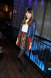 LILAH PARSONS at the ZEO 'Just January' Party held at the Buddha Bar, 145 Knightsbridge, London SW1 on 31st January 2013.