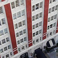 USA, Colorado, Denver. Hotel Teatro, view from Four Seasons HOtel.